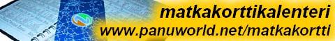 PanuWorldin Matkakorttikalenteri - www.panuworld.net/matkakortti