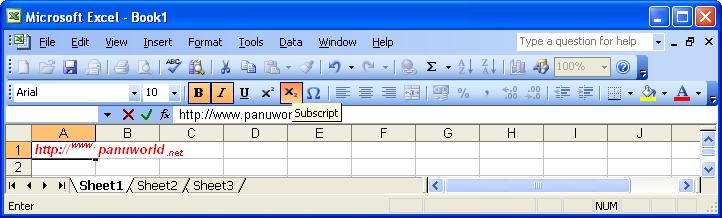 Subscript shortcut word 2016 download